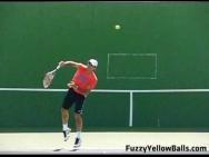 Ondulation dans le service du tennis